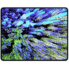 Colorful Floral Art Double Sided Fleece Blanket (medium)  by yoursparklingshop