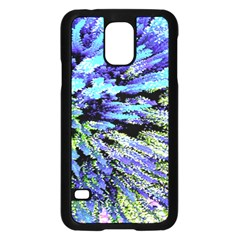 Colorful Floral Art Samsung Galaxy S5 Case (black)