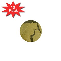 Stylish Gold Stone 1  Mini Buttons (10 Pack)  by yoursparklingshop