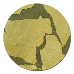 Stylish Gold Stone Magnet 5  (round) by yoursparklingshop
