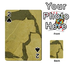 Stylish Gold Stone Playing Cards 54 Designs  by yoursparklingshop