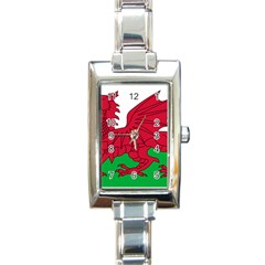 Flag Of Wales Rectangle Italian Charm Watch by abbeyz71