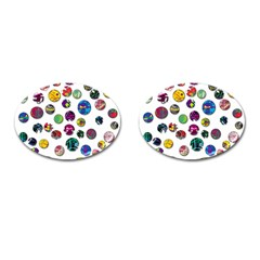 Play With Me Cufflinks (oval) by Valentinaart