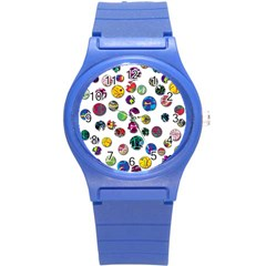 Play With Me Round Plastic Sport Watch (s) by Valentinaart