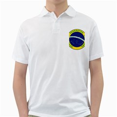 National Seal Of Brazil  Golf Shirts