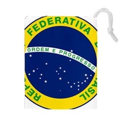 National Seal Of Brazil  Drawstring Pouches (extra Large)