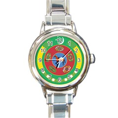 National Emblem Of Turkmenistan, 2000 2003 Round Italian Charm Watch by abbeyz71