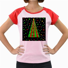 Xmas Tree  Women s Cap Sleeve T Shirt by Valentinaart