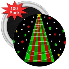 Xmas Tree  3  Magnets (100 Pack) by Valentinaart