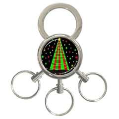 Xmas Tree  3 Ring Key Chains by Valentinaart