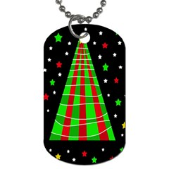 Xmas Tree  Dog Tag (two Sides) by Valentinaart