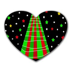 Xmas Tree  Heart Mousepads by Valentinaart