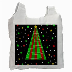 Xmas Tree  Recycle Bag (two Side)  by Valentinaart