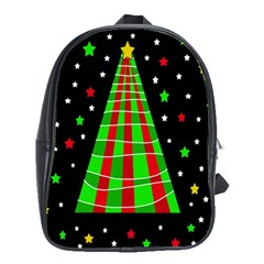 Xmas Tree  School Bags(large)  by Valentinaart