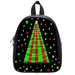 Xmas Tree  School Bags (small)  by Valentinaart