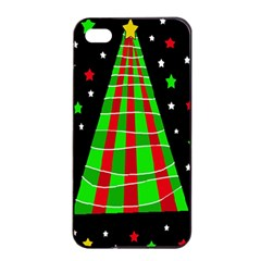Xmas Tree  Apple Iphone 4/4s Seamless Case (black) by Valentinaart