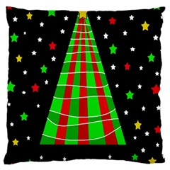 Xmas Tree  Large Cushion Case (two Sides) by Valentinaart