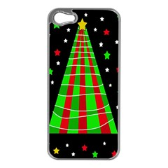 Xmas Tree  Apple Iphone 5 Case (silver) by Valentinaart