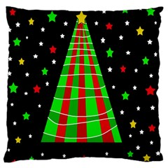 Xmas Tree  Large Flano Cushion Case (one Side) by Valentinaart