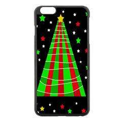 Xmas Tree  Apple Iphone 6 Plus/6s Plus Black Enamel Case by Valentinaart