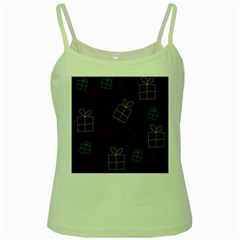Xmas Gifts Green Spaghetti Tank by Valentinaart