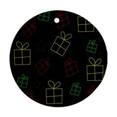 Xmas Gifts Round Ornament (two Sides)