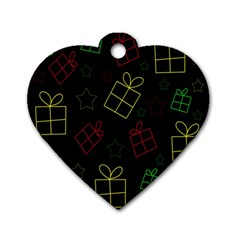 Xmas Gifts Dog Tag Heart (one Side) by Valentinaart