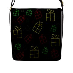 Xmas Gifts Flap Messenger Bag (l)  by Valentinaart
