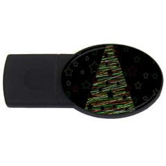 Xmas Tree 2 Usb Flash Drive Oval (2 Gb)  by Valentinaart