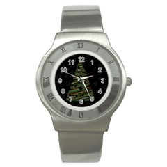 Xmas Tree 2 Stainless Steel Watch by Valentinaart