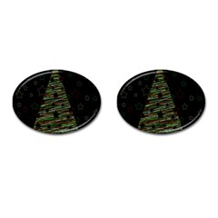 Xmas Tree 2 Cufflinks (oval) by Valentinaart