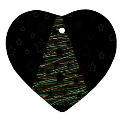 Xmas Tree 2 Heart Ornament (2 Sides) by Valentinaart