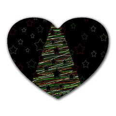 Xmas Tree 2 Heart Mousepads by Valentinaart
