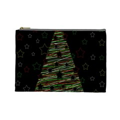 Xmas Tree 2 Cosmetic Bag (large)  by Valentinaart