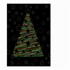 Xmas Tree 2 Small Garden Flag (two Sides) by Valentinaart
