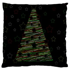 Xmas Tree 2 Large Cushion Case (two Sides) by Valentinaart
