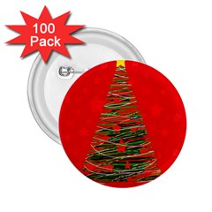 Xmas Tree 3 2 25  Buttons (100 Pack)  by Valentinaart