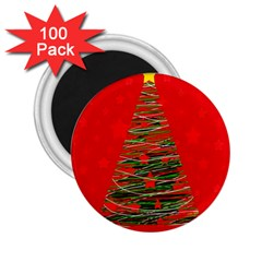 Xmas Tree 3 2 25  Magnets (100 Pack)  by Valentinaart