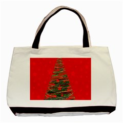 Xmas Tree 3 Basic Tote Bag (two Sides) by Valentinaart