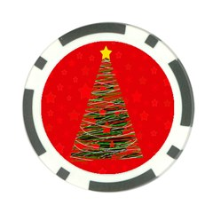 Xmas Tree 3 Poker Chip Card Guards (10 Pack)  by Valentinaart