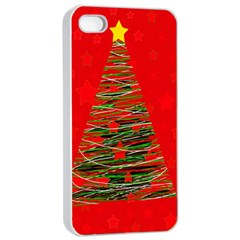 Xmas Tree 3 Apple Iphone 4/4s Seamless Case (white) by Valentinaart