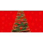 Xmas tree 3 Best Friends 3D Greeting Card (8x4) Front