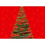 Xmas tree 3 BOY 3D Greeting Card (7x5) Front