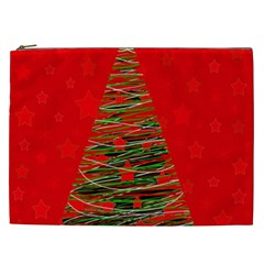 Xmas Tree 3 Cosmetic Bag (xxl)  by Valentinaart