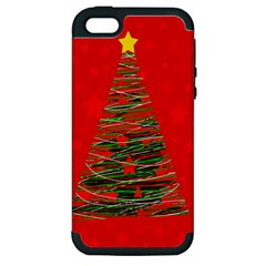 Xmas Tree 3 Apple Iphone 5 Hardshell Case (pc+silicone) by Valentinaart