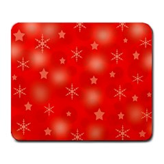 Red Xmas Desing Large Mousepads by Valentinaart