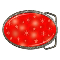 Red Xmas Desing Belt Buckles by Valentinaart