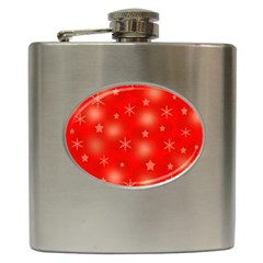 Red Xmas Desing Hip Flask (6 Oz) by Valentinaart