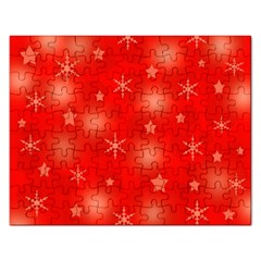 Red Xmas Desing Rectangular Jigsaw Puzzl by Valentinaart