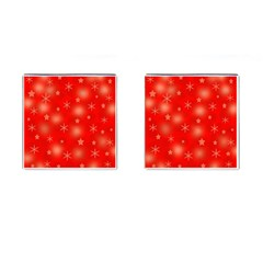 Red Xmas Desing Cufflinks (square) by Valentinaart